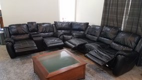 Black Sectional Couch in Kingwood, Texas