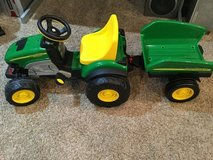 Peg Perego John Deere Farm Tractor with Trailer in Oswego, Illinois