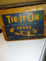 antique boxes ( great labels!) in Cherry Point, North Carolina