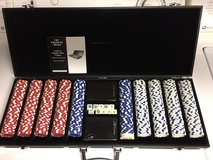 New Sharper Image Tournament Class 500 Piece Poker Chip Set w/Case in Bartlett, Illinois