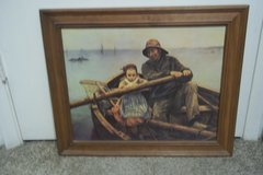 Home Interior Sailor/irl in Boat Framed Print in Houston, Texas