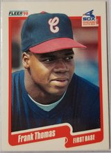 Frank Thomas Fleer Rookie in Camp Lejeune, North Carolina