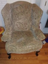 High paisley wing back chair paid $350 in Warner Robins, Georgia