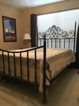 Queen size wrought iron bed framefrom Bobmbay Company originally $800 in Kingwood, Texas
