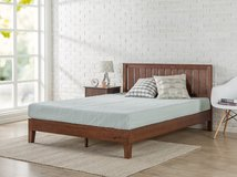 Zinus King 12 Inch Deluxe Solid Wood Platform Bed with Headboard in Morris, Illinois