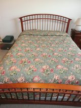 Custom Made Queen Size Bed Spread with Skirt and Pillow in Ramstein, Germany
