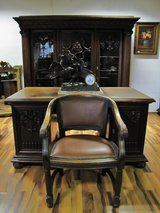 Desk Chair and Bookcase from France circa 1900-1920 in Ramstein, Germany