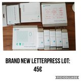 Brand new letterpress items in Ramstein, Germany