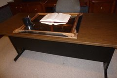 "6'x30"" 2tone Metal Desk, Sturdy Hvy Duty Furniture,great for study/office/school/church/day care in Rosenberg, Texas"