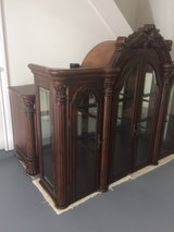 MOVING Reduced FSBO! Hutch/Buffet 2 piece Display CHINA CABINET,detailed craftsmanship in Rosenberg, Texas