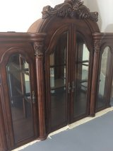 FSBO Fine Furniture 2 Piece Detailed Hutch/Buffet & Display China Cabinet. Mint Cond! in Katy, Texas
