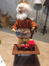 electric elf toy maker with toy train in Yorkville, Illinois