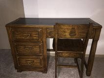 solid wood desk and chair in Tinley Park, Illinois