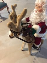 Electric moving reindeer with Santa 3ft in Naperville, Illinois