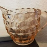 $5.00 Vintage Glass Creamer Gravy Bowl Cup Spout  Beautiful Design - Very Light Pink Tint Great ... in Leesville, Louisiana