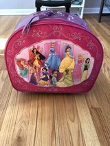 Disney princess rolling luggage in Lockport, Illinois