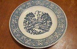 """$5.00 Set Of 2  Vintage Blue & White Plate - 7 1/4""""  PreUsed - Excellent Condition - Smoke Free in Leesville, Louisiana"""
