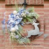 Deer Christmas Wreath in Fort Hood, Texas