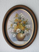 Oval Painting with Frame in Ramstein, Germany