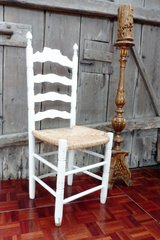 White Shabby Chic Country Style Chair in Ramstein, Germany