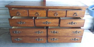 Solid wood dresser with 7 drawers in good working condition in El Paso, Texas