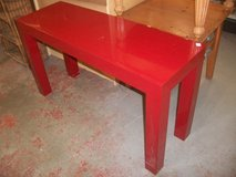 Red Lacquered Hall Table in Cherry Point, North Carolina