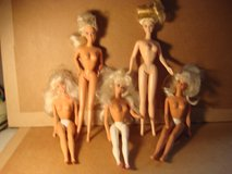 FIVE BARBIE DOLLS in Bartlett, Illinois