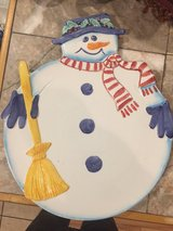 hand made snowman plate in Fort Benning, Georgia