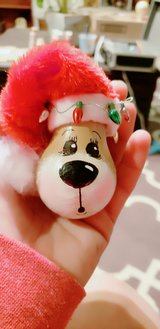 Hand painted Christmas ornaments in Yucca Valley, California