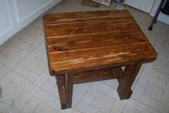 Solid wood side table in Conroe, Texas
