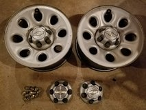 "17"" stock Chevrolet Silverado 6 lug rims, 4 caps & lug nuts in Fort Rucker, Alabama"
