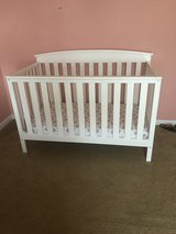 Baby crib/mattress/sheets/bumpers/covers/babygirlclothes in Fort Benning, Georgia