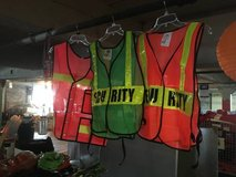 Safety Gear:  Orange Vests and Hard Hats in Fort Lewis, Washington