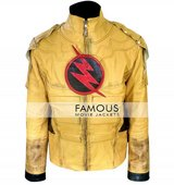 Superhero Reverse Flash Cosplay Leather Jacket Costume in Fort Drum, New York