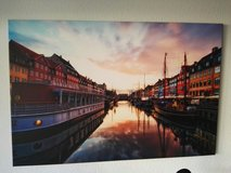 Picture of Copenhagen/Nyhavn on wooden frame in Stuttgart, GE