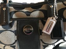 Coach F24364 Black Signature Satchel Purse + Wallet in St. Charles, Illinois