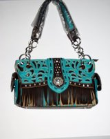 TURQUOISE WESTERN FRINGE PURSE ELEGANT BRAND NEW in Alamogordo, New Mexico
