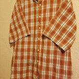 3.00 Mens XLarge Sun River Shirt - Collared - Button Down Front Plaid Rustic, White, Gray - Cott... in Leesville, Louisiana