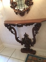 antique wodden mirror and table combination in Spangdahlem, Germany