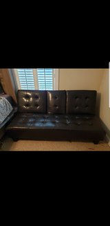 Brown heavy duty genuine leather futon in Gloucester Point, Virginia