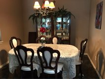 Mahogany colored Dining room furniture in Spring, Texas