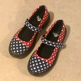 Super Cute Dr. Martens Polka Dot Mary Jane Shoes Youth Size 3 Like New in Travis AFB, California