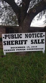 NOTICE OF SHERIFF SALE in Fort Polk, Louisiana