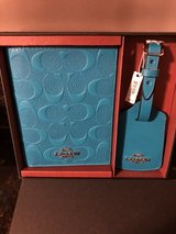 New Coach Boxed Set - Passport Case & Luggage Tag - Turquoise in Lockport, Illinois