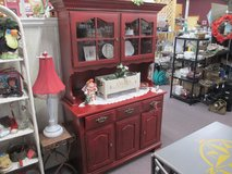 VINTAGE CHINA HUTCH COME SEE IT AT TWICE AS NICE FLEA MARKET BOOTH # 605 in Camp Lejeune, North Carolina