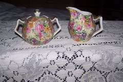 Chintz Creamer and Sugar Bowl in Joliet, Illinois