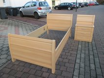 German beds + night stands in Ramstein, Germany