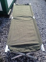 Military folding camping bed in Okinawa, Japan