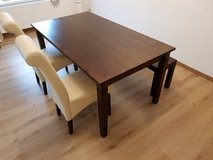 Dining table/2 chairs/bench in Ramstein, Germany