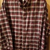 $6.00 Mens Size 4XLarge St Johns Bay Red/Black Plaid Shirt  Button Down Front - Collared - Long ... in Leesville, Louisiana